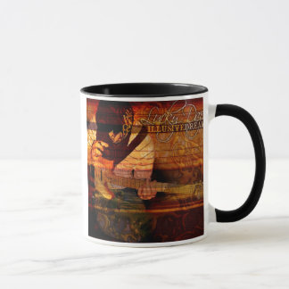 Tasse de café rêveuse trompeuse de stupéfaction