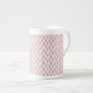 Tasse de café rose de cactus