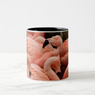Tasse de café rose d'impression de flamant
