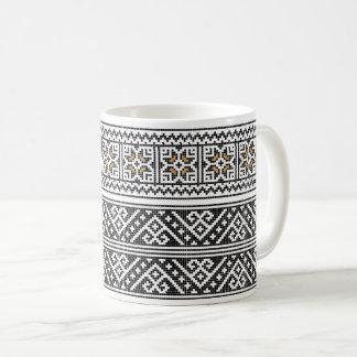 Tasse de café ROUMAINE d'ART POPULAIRE
