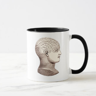 Tasse de café sectionnelle de cerveau
