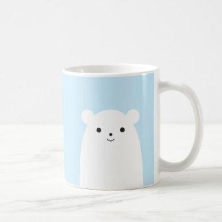 Tasse de café semi-transparente d'ours blanc