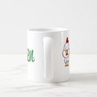 Tasse de café simple de poulet