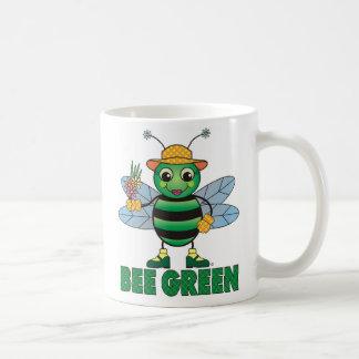 Tasse de café verte d'ABEILLE