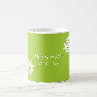 Tasse de café verte de conception