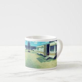 Tasse de café vintage, caravane de kitsch des