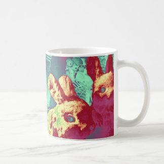 Tasse de café vintage de lapins