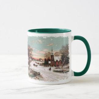 Tasse de café vintage de réveillon de Noël