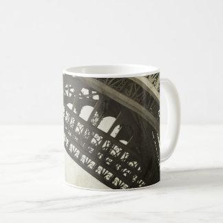 Tasse de café vintage de voûte de Tour Eiffel de