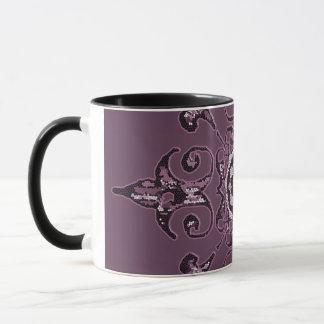 Tasse de café vintage pourpre amortie de