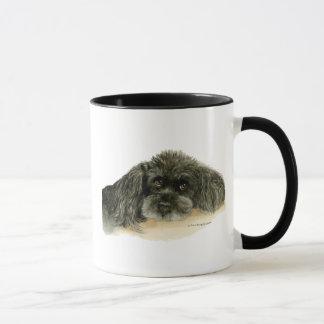 Tasse de caniche de chien