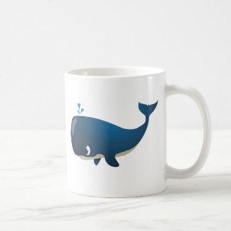 """Tasse de caractère de baleine de """"petit de bébé"""