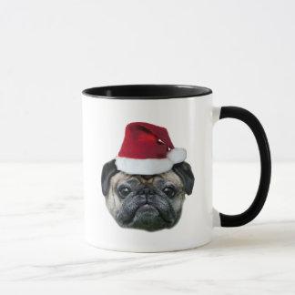 Tasse de carlin de Noël