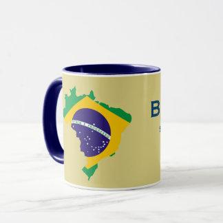 Tasse de carte de drapeau du Brésil