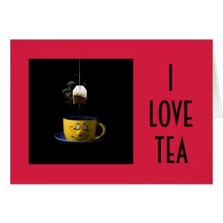Tasse de carte de thé