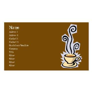Tasse de carte de visite de café ou de thé