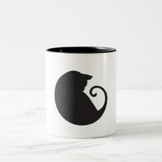 Tasse de cercle de chat noir