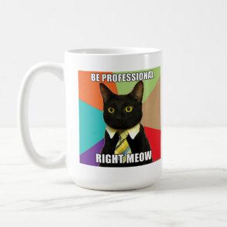 Tasse de chat d'affaires