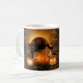 Tasse de chat de Halloween