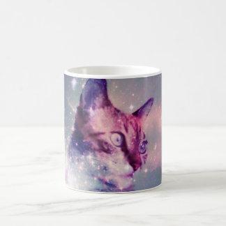 Tasse de chat de l'espace