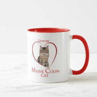 Tasse de chat de ragondin du Maine