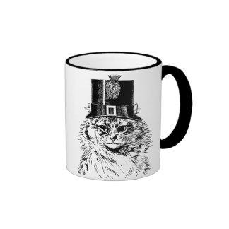 Tasse de chat de Steampunk, Kitty dans le chapeau