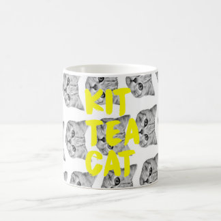 Tasse de chat de thé de kit