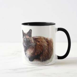 Tasse de chat d'écaille