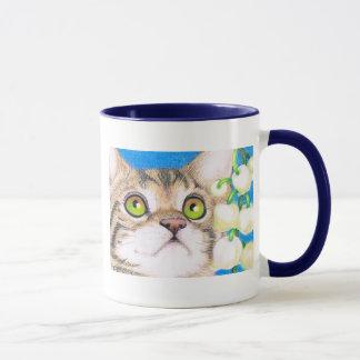 tasse de chat et de muguet