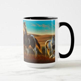 Tasse de chevaux au soleil