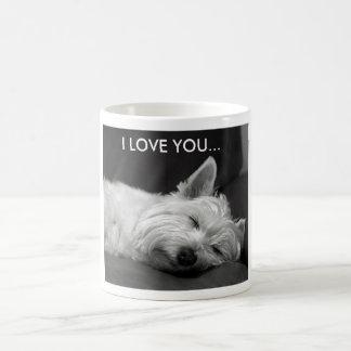 Tasse de chien de Westie - JE T'AIME…
