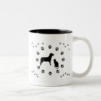 Tasse de chien et de chat