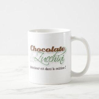 Tasse de chocolat et de courgette