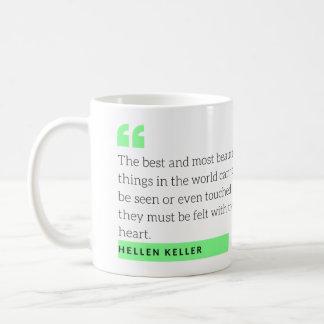 Tasse de citation de Hellen Keller