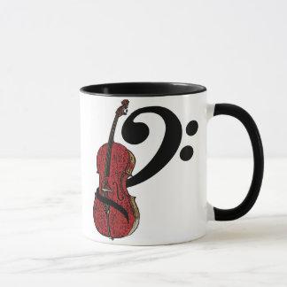 Tasse de clef de violoncelle