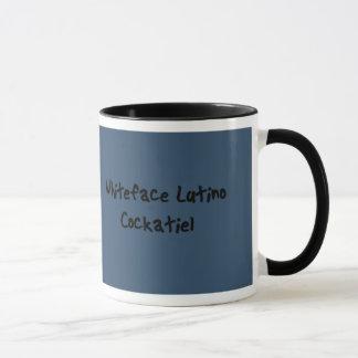 Tasse de Cockatiel de Whiteface Lutino