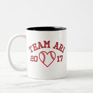 Tasse de coeur de base-ball d'Ari d'équipe