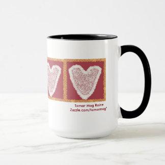 Tasse de coeur de dentelle