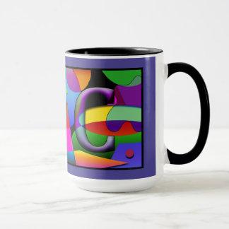 Tasse de Cofee de monogramme avec les initiales J
