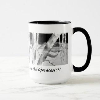 Tasse de Coffe : Peinture en soie originale par