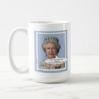 Tasse de comédie de la Reine Elizabeth II