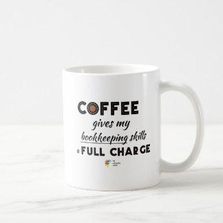 Tasse de comptable - le café donne une pleine