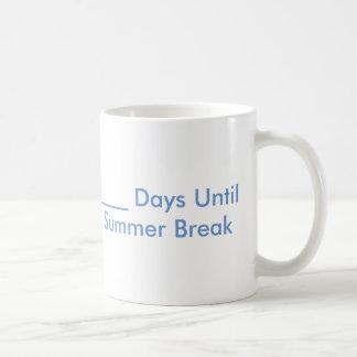 Tasse de compte à rebours de coupure d'été