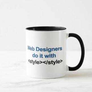 Tasse de concepteur de Web