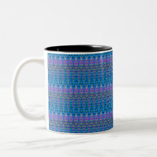 Tasse de conception d'abrégé sur bleu et pourpre