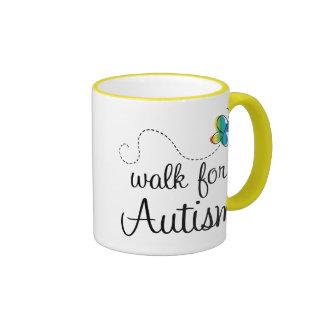 Tasse de conscience de promenade d'autisme