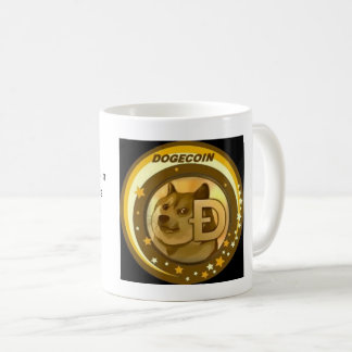Tasse de cryptocurrency de Dogecoin