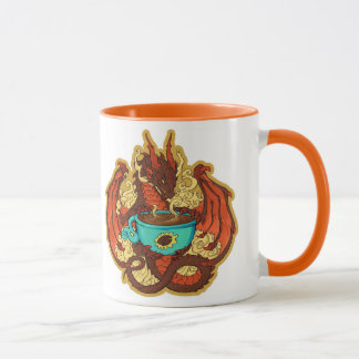 Tasse de dragon de café
