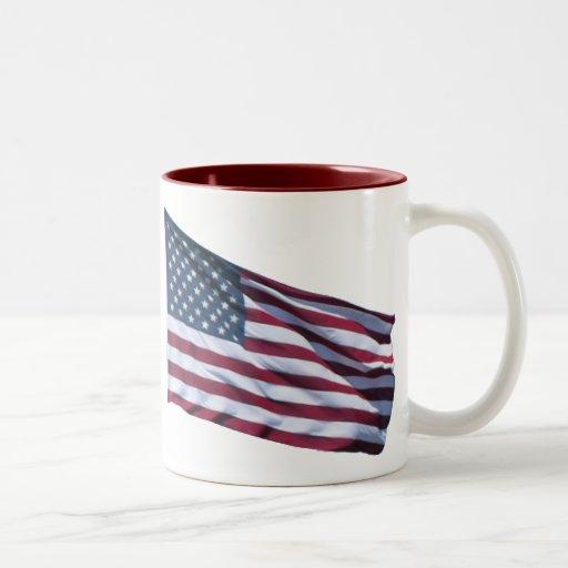 Tasse de drapeau américain