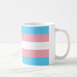 Tasse de drapeau de transsexuel